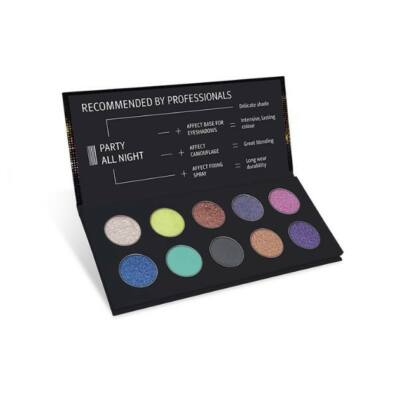 Affect Cosmetics - Party All Night Eyeshadow Palette - Party All Night szemhéjpúder paletta 10*2 g